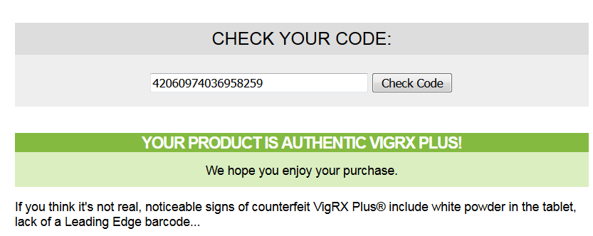 real vigrx plus