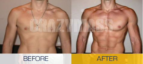 crazy mass cutting stack before and after photo