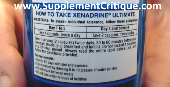 How to take xenadrine