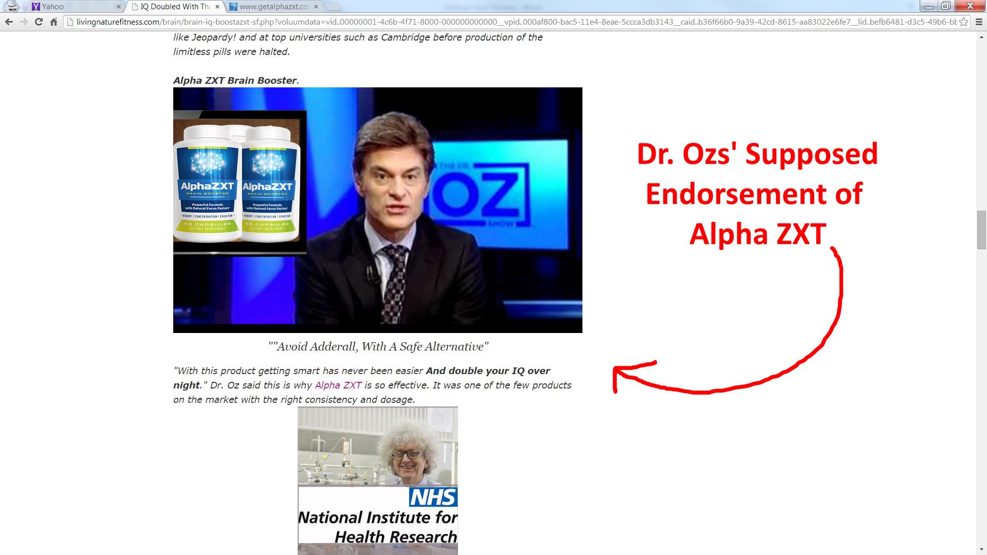 Dr Oz Alpha Zxt