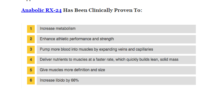 Anabolic Rx24 Benefits List Image