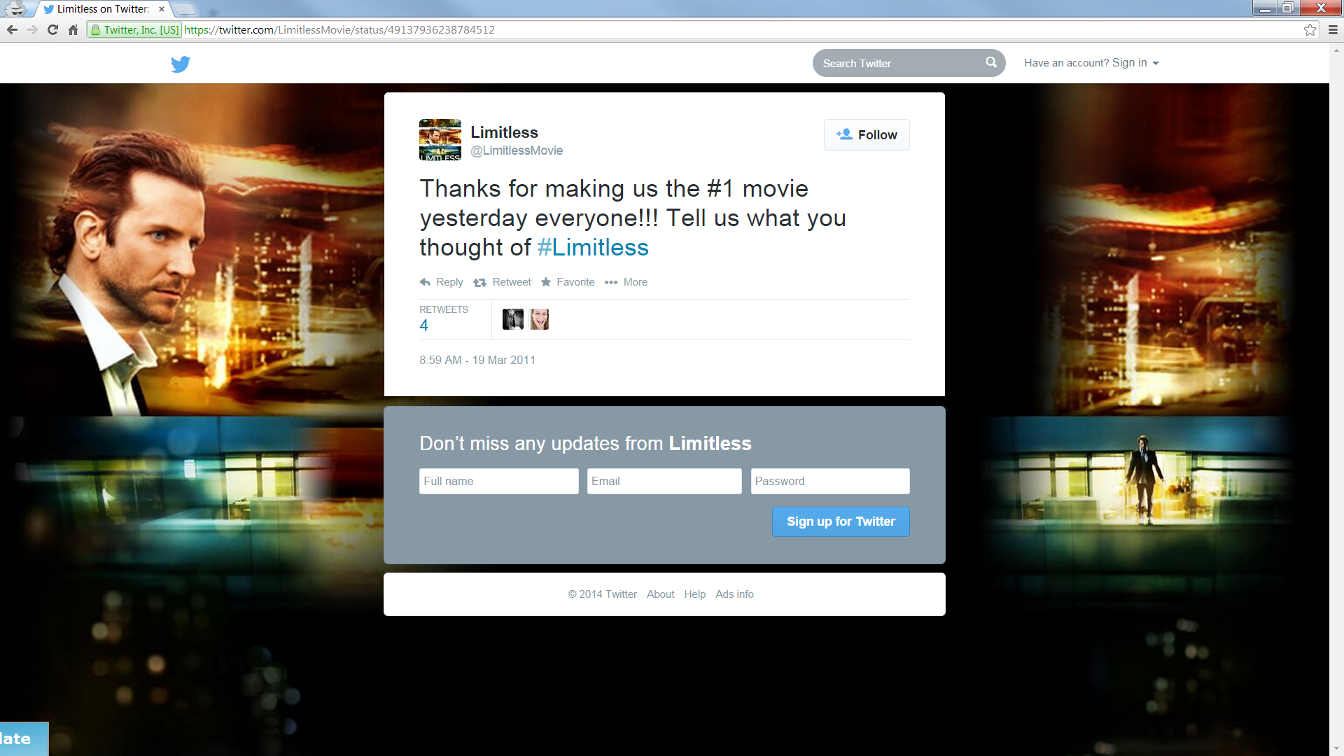 original limitless-tweet