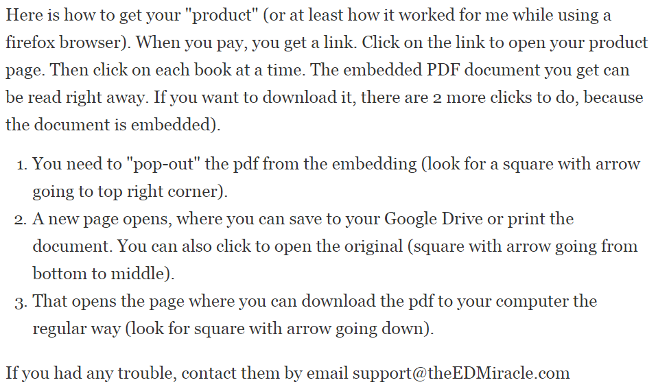 ed miracle instructions on getting the ebook