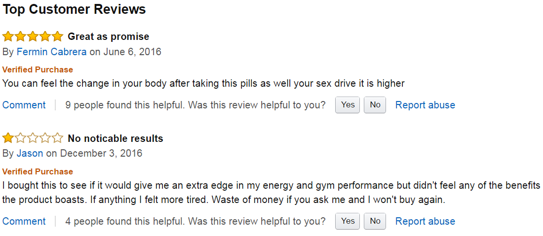 blue star status testosterone reviews on amazon