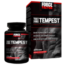 force factor test x180 tempest review