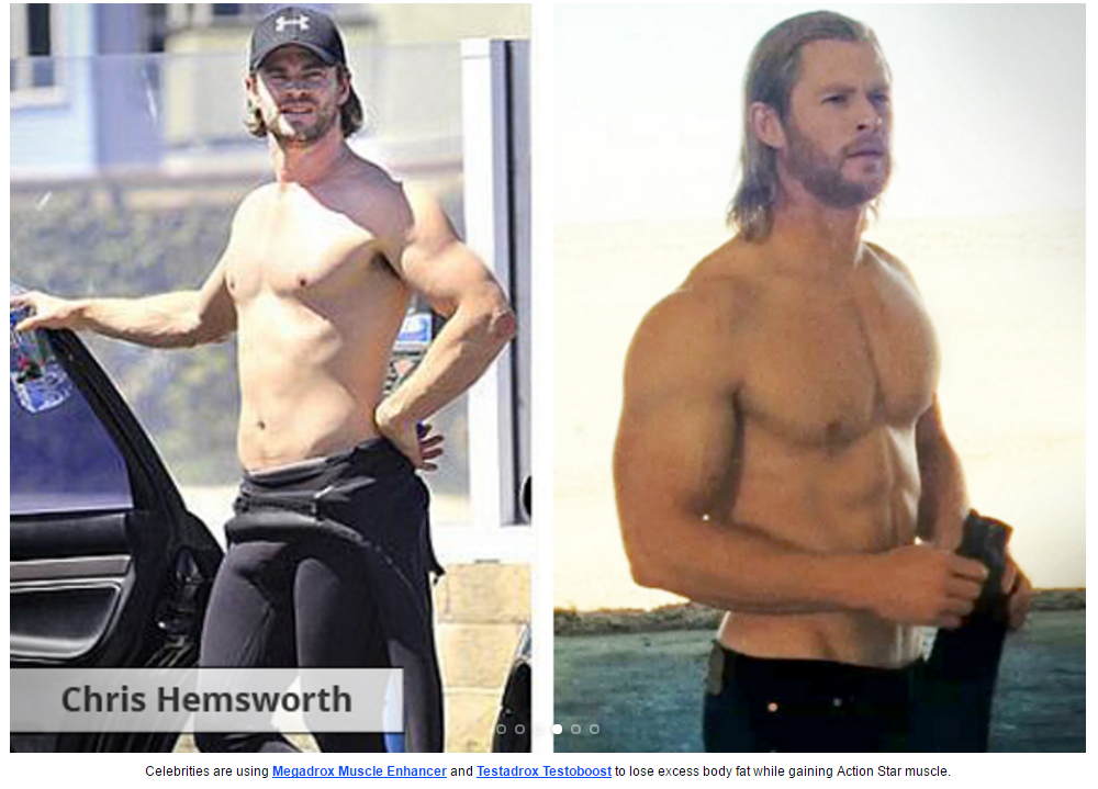 megadrox and testadrox chris hemsworth