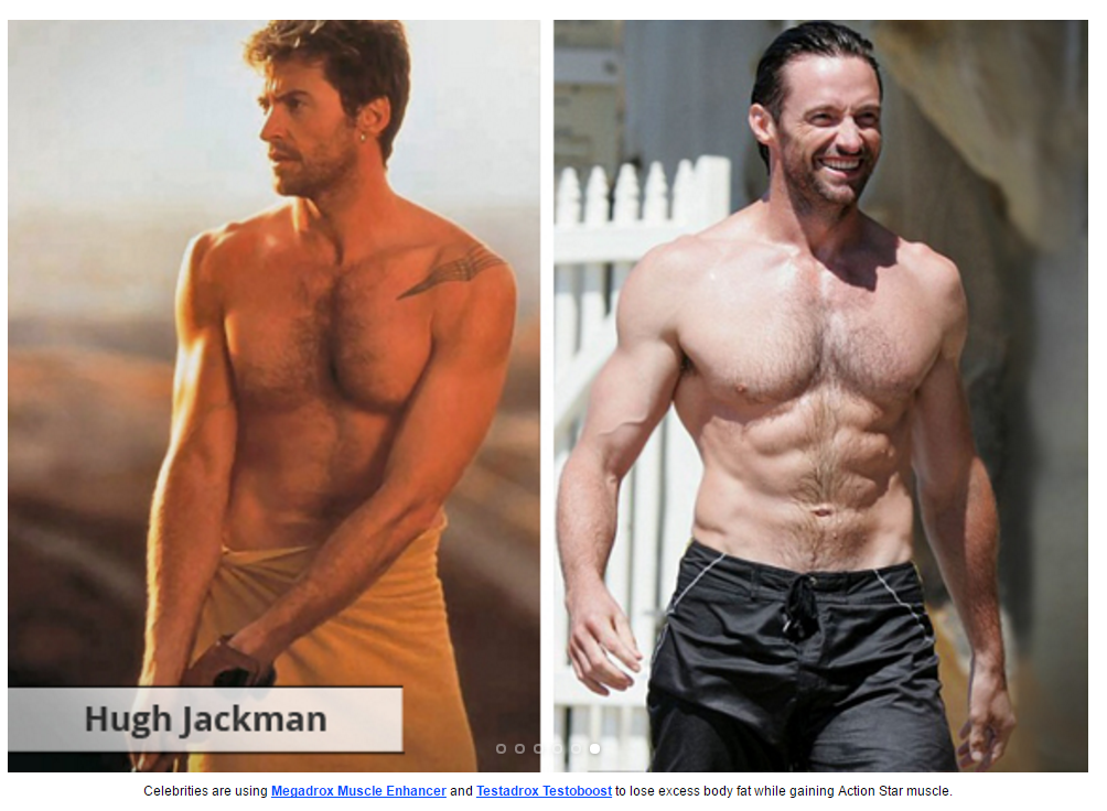 megadrox and testadrox hugh jackman