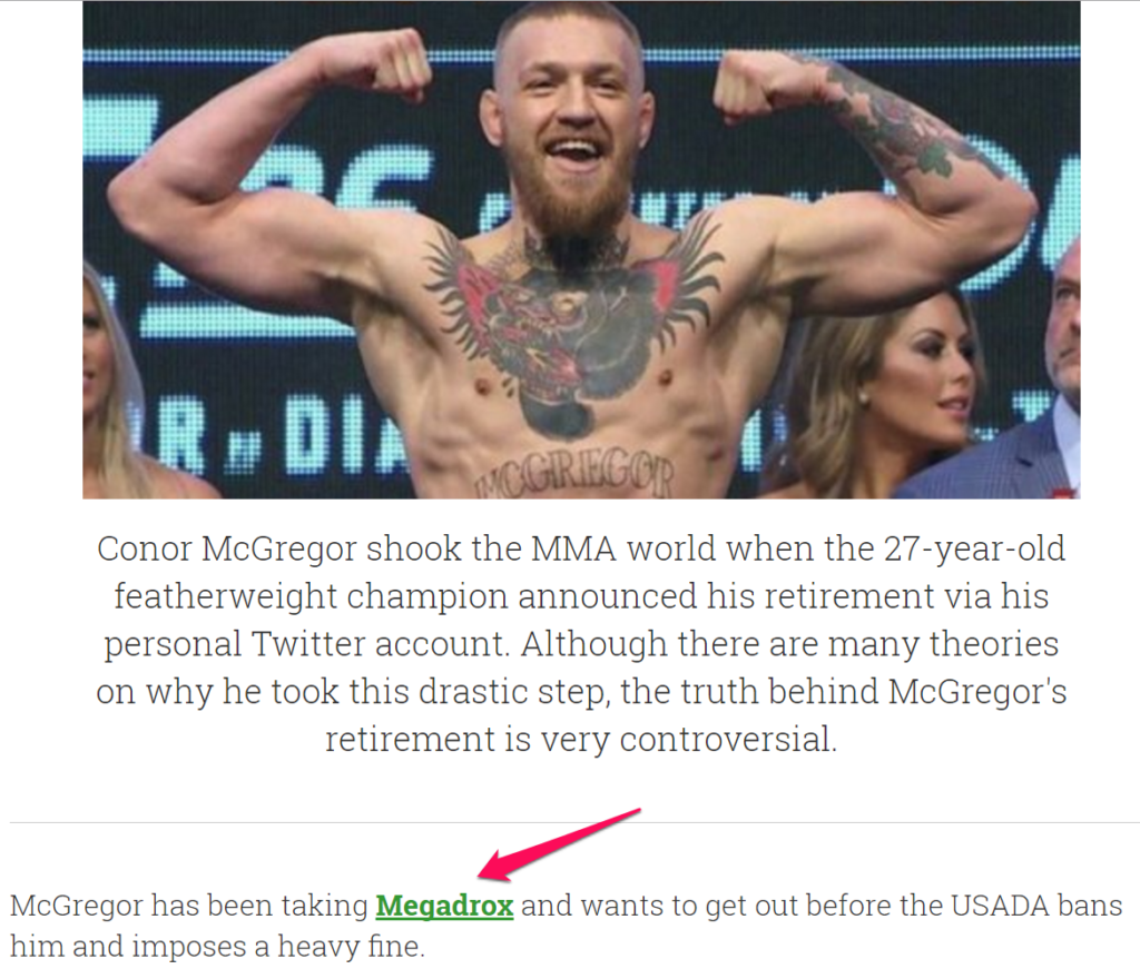 connor mcgregor megadrox