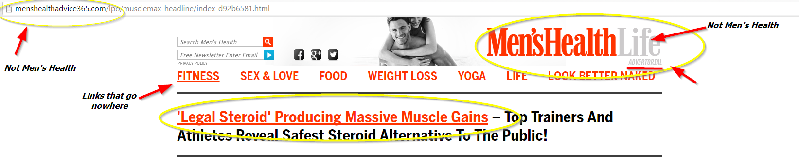 Max muscle Xtreme and Max Test Ultra Headline