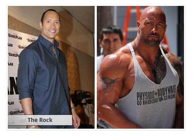 Max muscle Xtreme and Max Test Ultra the rock