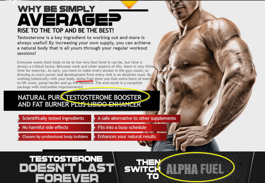 Alpha Tren Alpha Fuel Testosterone Booster Image