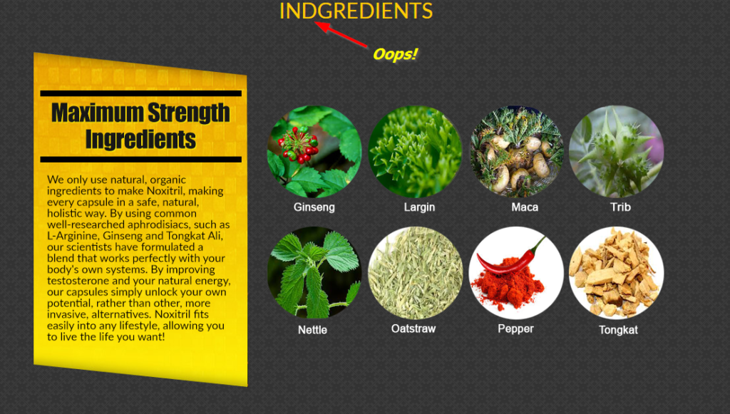 Noxitril Ingredients Image