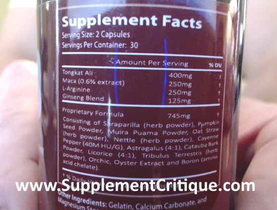 noxitril ingredients label