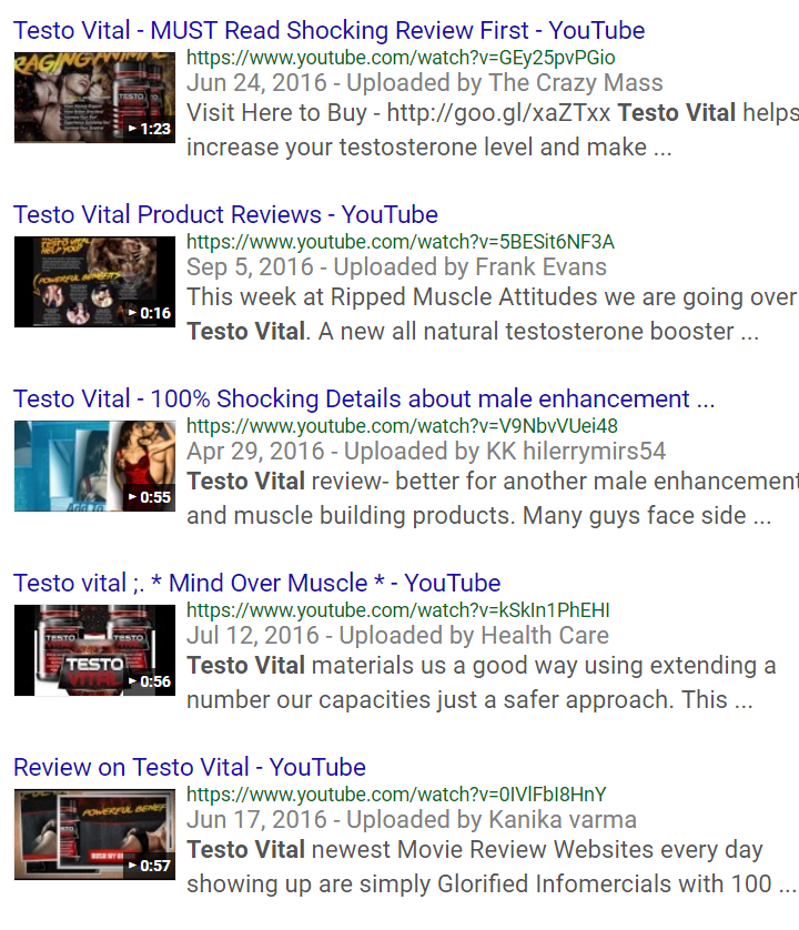 testo vital reviews on youtube