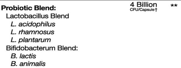 bio x4 probiotic blend