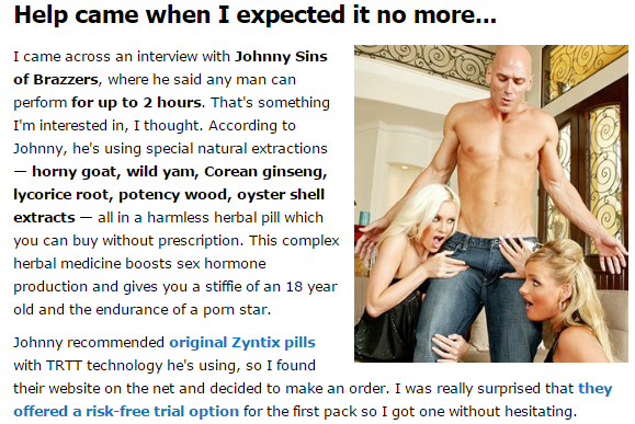 johnny sins uses zyntix