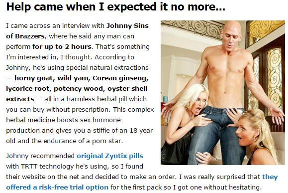 johnny sins uses zyntix