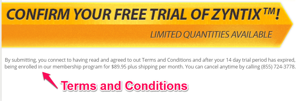 zyntix terms and conditions