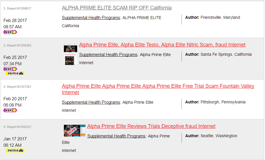 Alpha Prime Elite Ripoff List Image