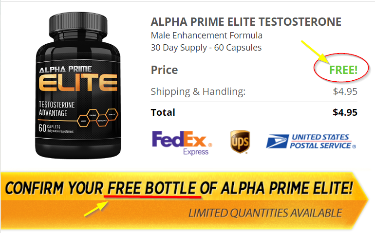 Alpha Prime Male FREE Bottle