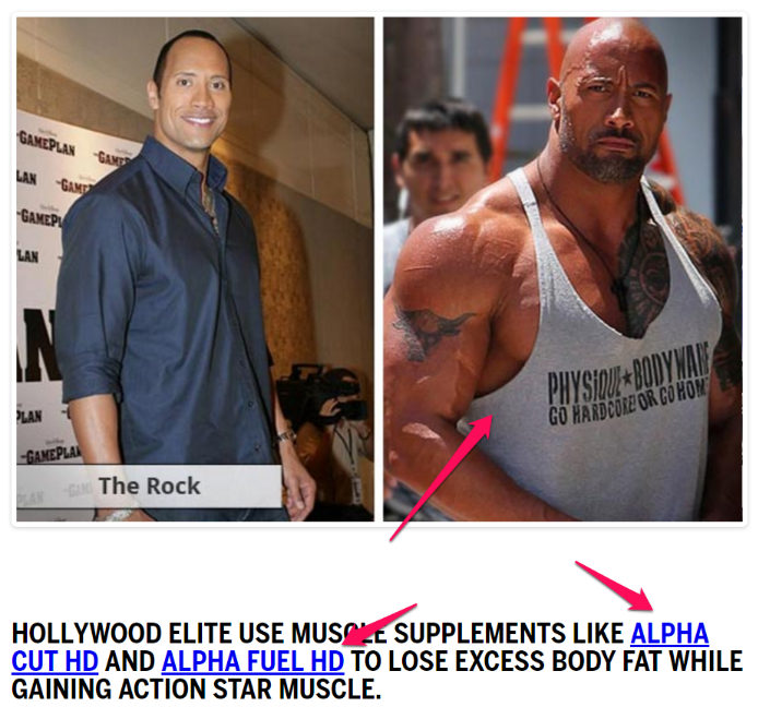 the rock alpha cut and alpha fuel image