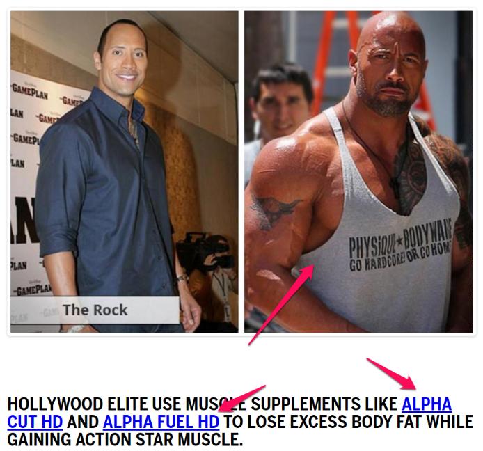 the rock alpha cut and alpha fuel image