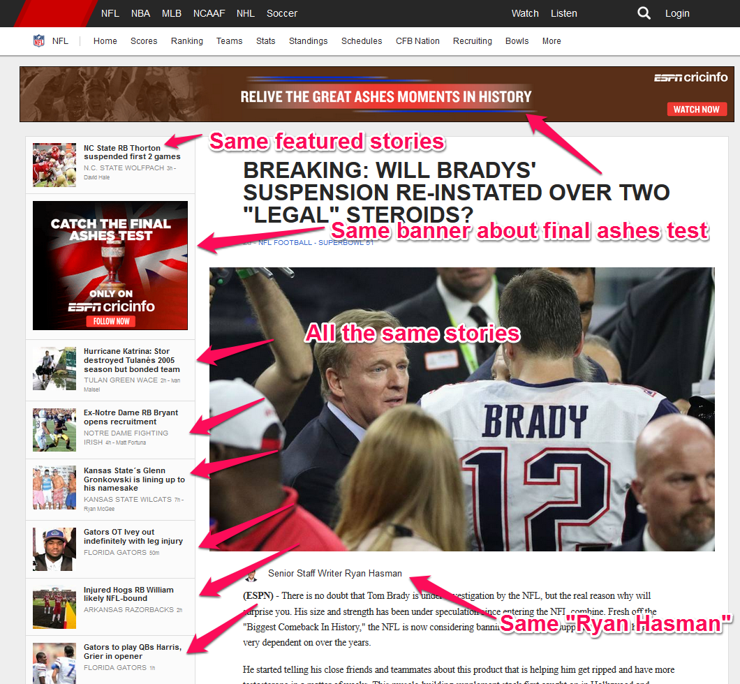 tom brady supplements espn