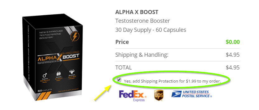Alpha X Boost Order Page Image