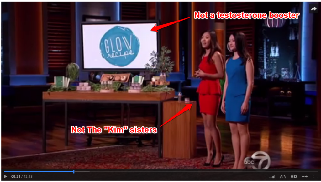 shark tank glow recipe episode
