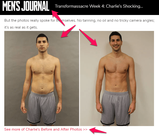 mens journal before and after