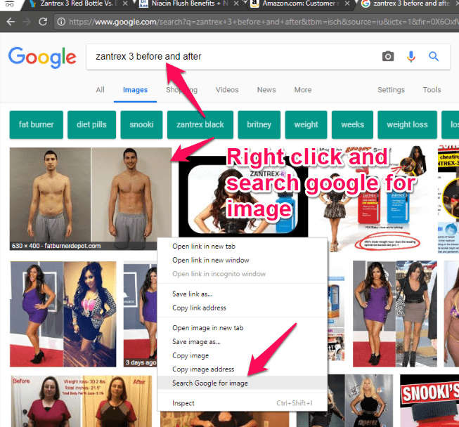 search google for before and after pictures