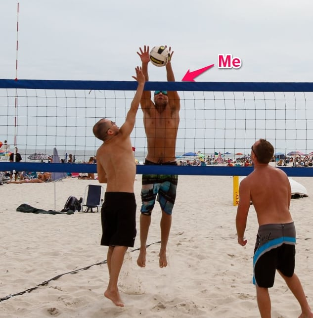 rob miller playing volleyball