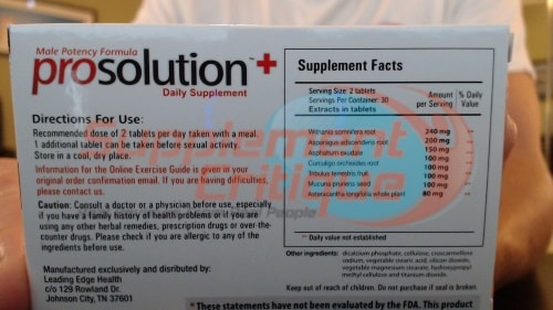 prosolution plus label