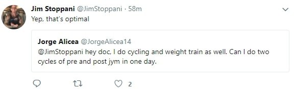 jim stoppani answers questions on twitter