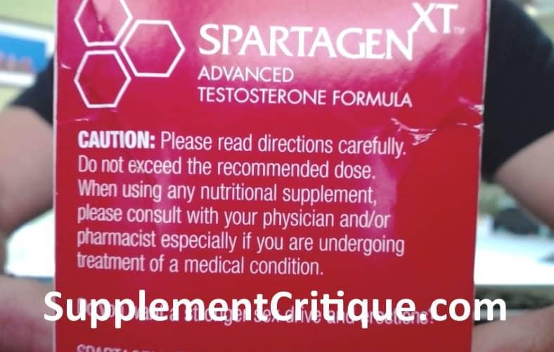 spartagen xt side effects