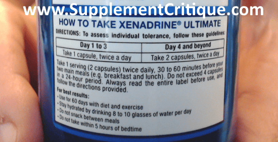 how to take xenadrine ultimate