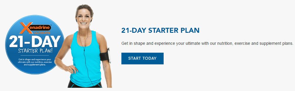 xenadrine ultimate 21 day starter plan