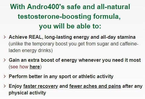 Andro 400 benefits