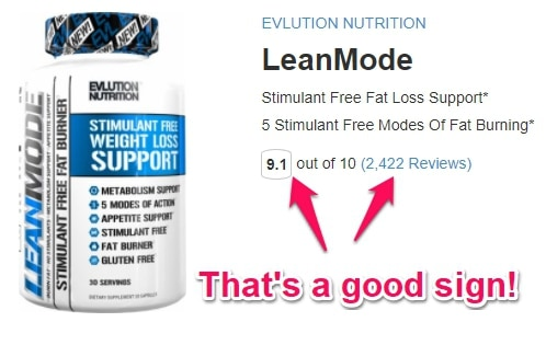 lean mode review average rating on bodybuilding