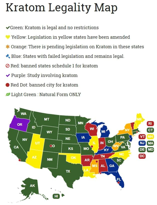 where is kratom legal