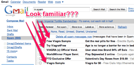 Example of spam email viagra