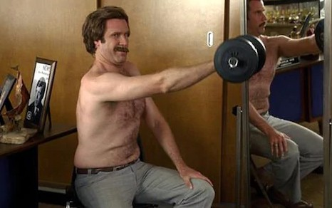working out in the office