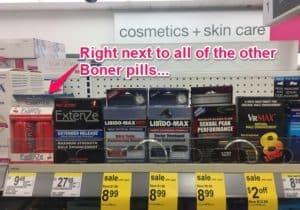 extenze liquid shots at Walgreens and CVS