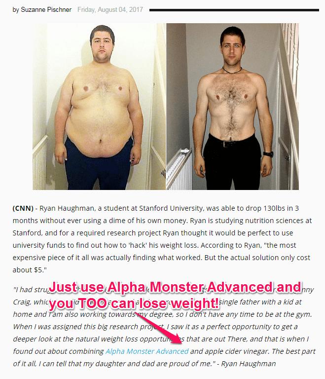 alpha monster advanced and apple cider vinegar