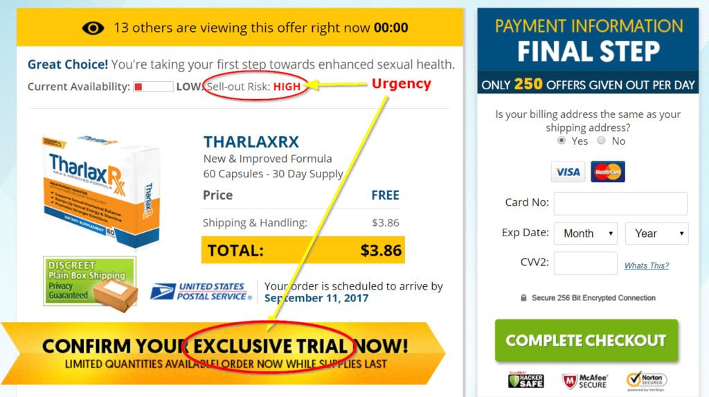 Tharlax Rx Order Page Image