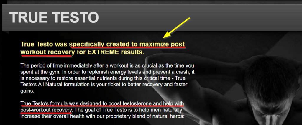 True Testo Post Workout