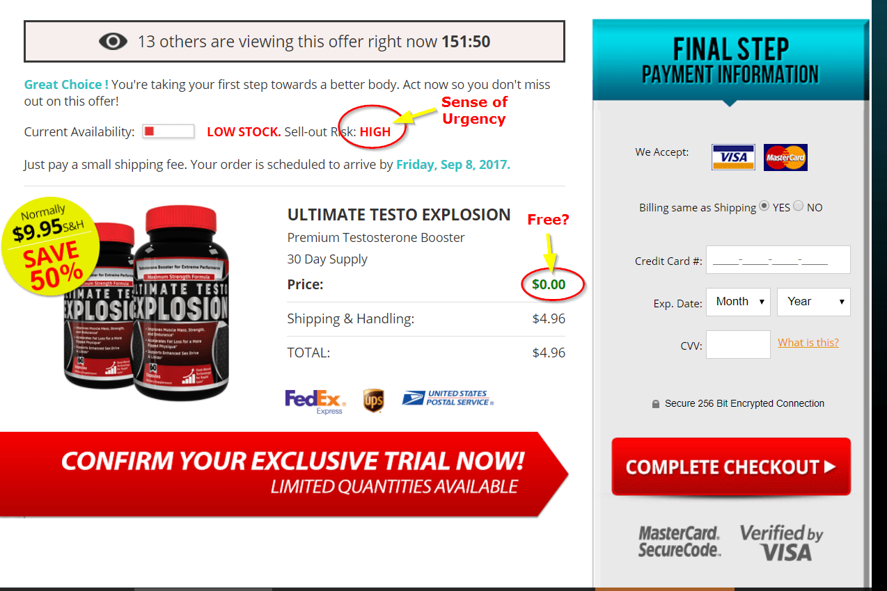 Ultimate Testo Explosion Click through order form image