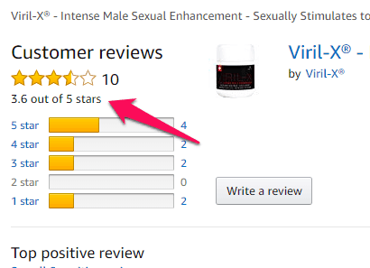viril x amazon reviews