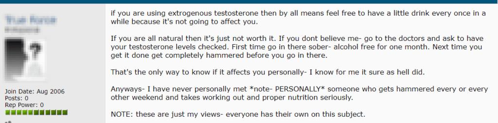 Alcohol Testosterone 3
