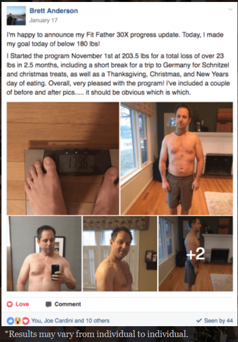 Fit Father Project Facebook Review Image